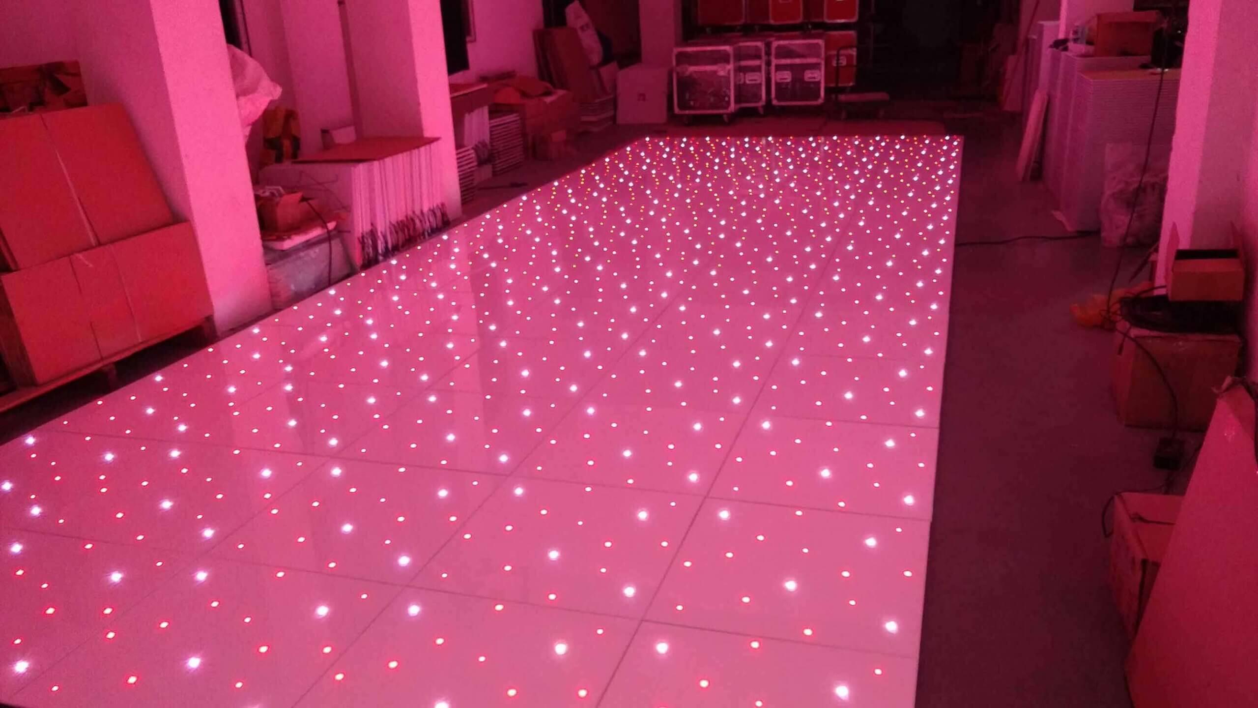 White Starlit RGB Dance Floor