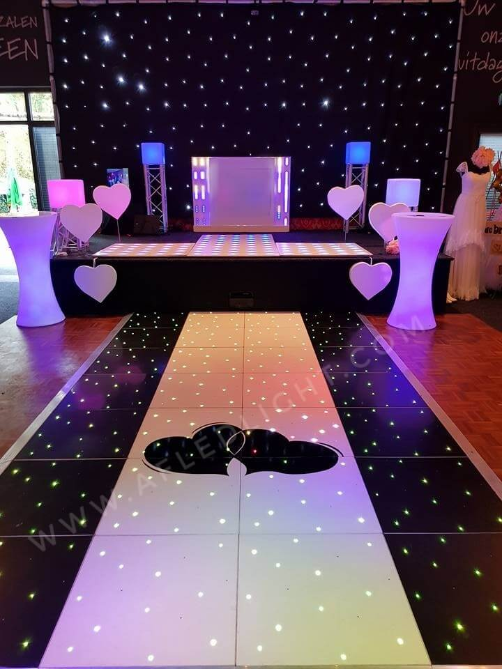 White Black RGB LED Dance Floor